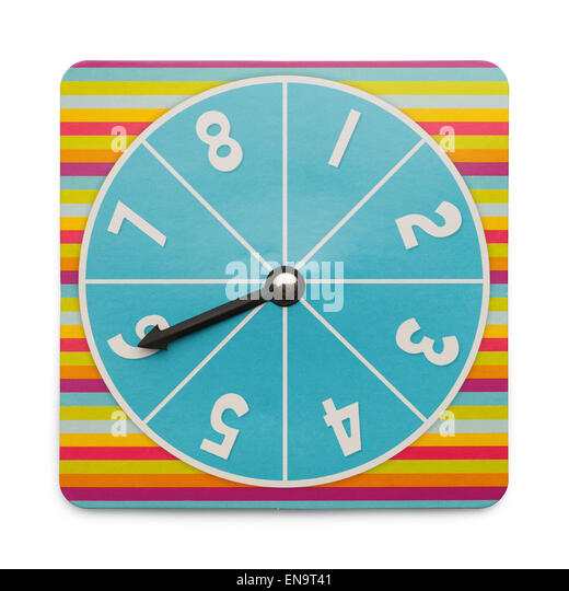 Board Game Turn Dial Isolated on White Background. - Stock Image