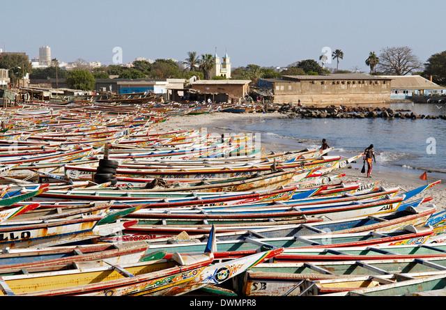 N'Gor Beach, Dakar area, Senegal, West Africa, Africa - Stock Image