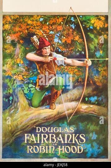 ROBIN HOOD 1922 United Artists film with Dpuglas Fairbanks - Stock-Bilder