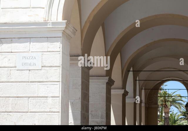 Piazza d'Italia, Sassari, Sardinia - Stock Image