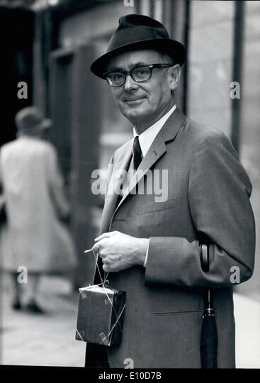 Jul. 07, 1972 - Karl Schiller: Minister of Finance and Economic affairs has ''packed his affairs and taken - Stock Image