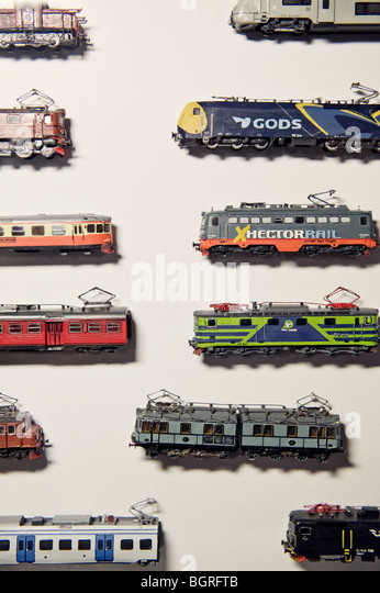 Toy trains, Sweden. - Stock Image