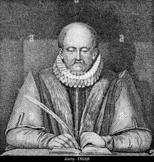 John Stow: English historian and antiquarian, c. 1525?6 April 1605. - Stock-Bilder