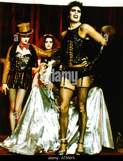 ROCKY HORROR PICTURE SHOW  1975 TCF film with Tim Curry - Stock Image