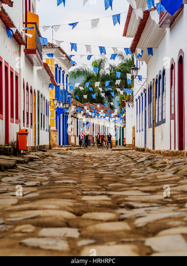 View of the Old Town, Paraty, State of Rio de Janeiro, Brazil - Stock-Bilder