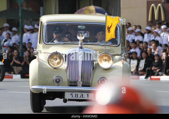 Bangkok, Thailand. 02nd Dec, 2016. Thailand's new King Maha Vajiralongkorn Bodindradebayavarangkun is seen on - Stock Image