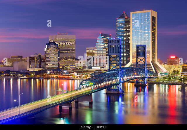 Jacksonville, Florida, USA downtown city skyline. - Stock Image
