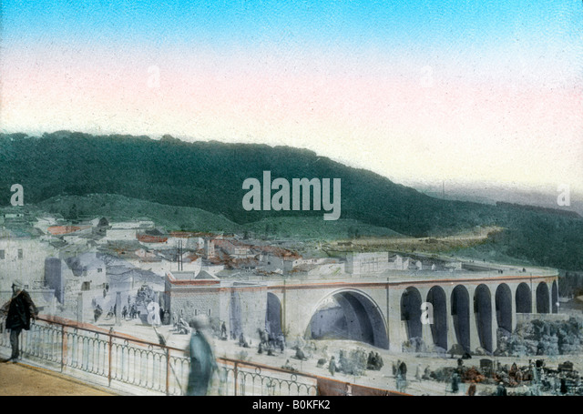 Sidi Rached bridge, Constantine, Algeria. - Stock Image
