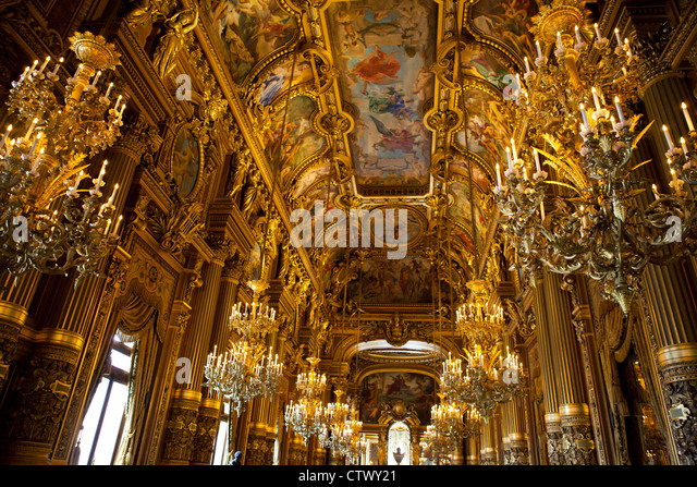 Paris Opera House Grand Foyer : Grand foyer palais garnier opera stock photos