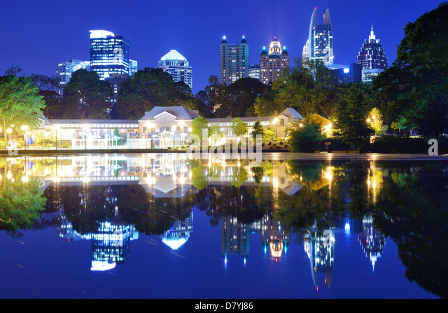 Mditown Atlanta, Georgia from Piedmont Park - Stock Image