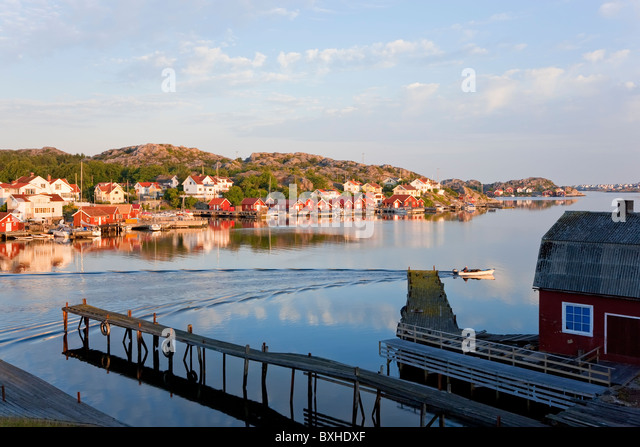 Village of Ronnang Bohuslan Sweden - Stock Image