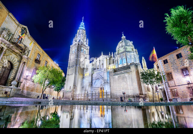 Toledo, Spain at the The Primate Cathedral of Saint Mary of Toledo. - Stock-Bilder