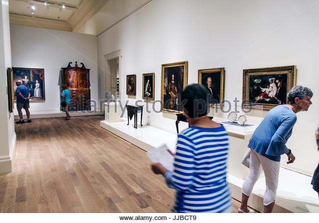 South Carolina Charleston SC Historic Downtown Gibbes Museum of Art exhibit - Stock Image