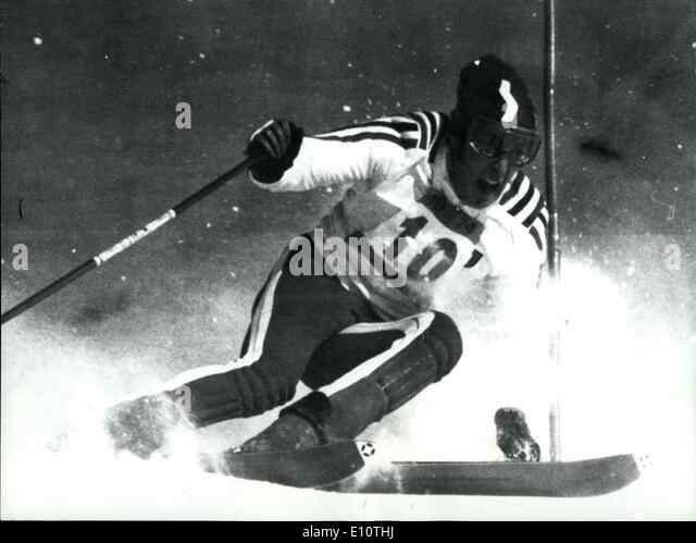 Feb. 02, 1974 - Ski-World Championship In St.Moritz:Photo shows Gustavo Thoeni, world champion in giant slalom, - Stock Image