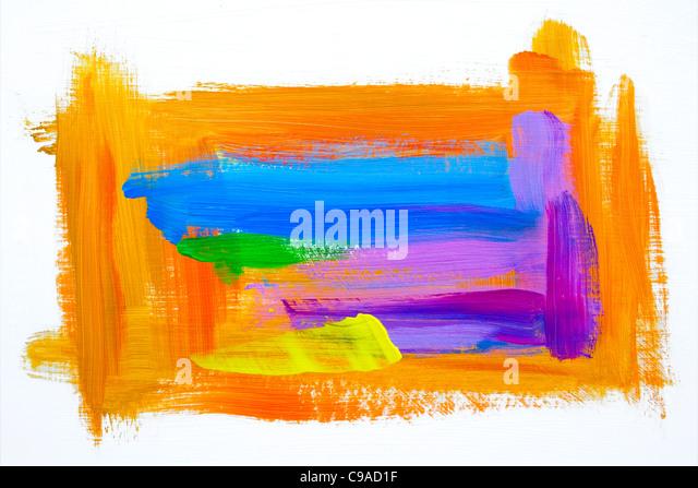Orange with Color Smears #2 - Stock-Bilder