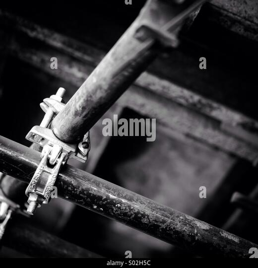 Scaffolding (Ermelo, South Africa) - Stock Image