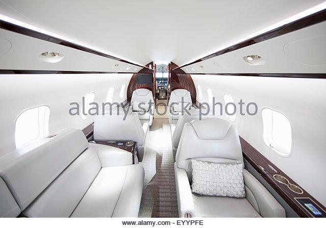 Interior of private jet - Stock Image