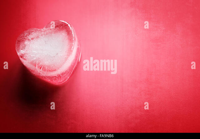 Frozen heart background - Stock-Bilder