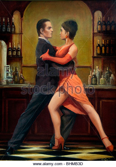 Tango Buenos Aires Argentina La Boca El Caminito Sign street Painting - Stock-Bilder