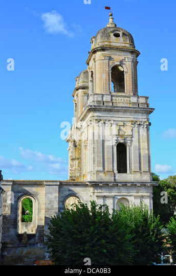 The Two Towers in Saint Jean d'Angely, Charente Martime, France - Stock Image