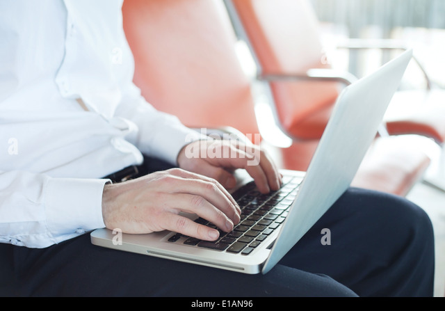 internet in airport - Stock Image