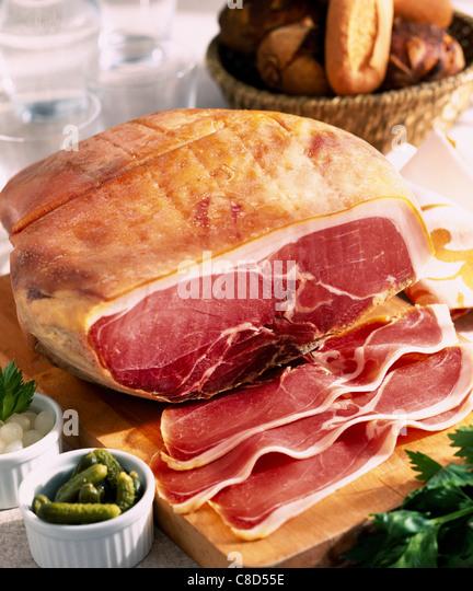Raw ham - Stock Image