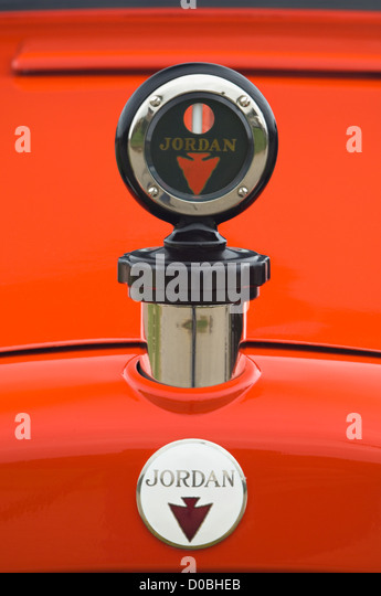 Hood Ornament on Vintage 1923 Jordan Playboy Automobile at the 2012 Concours d'Elegance at Churchill Downs in - Stock Image