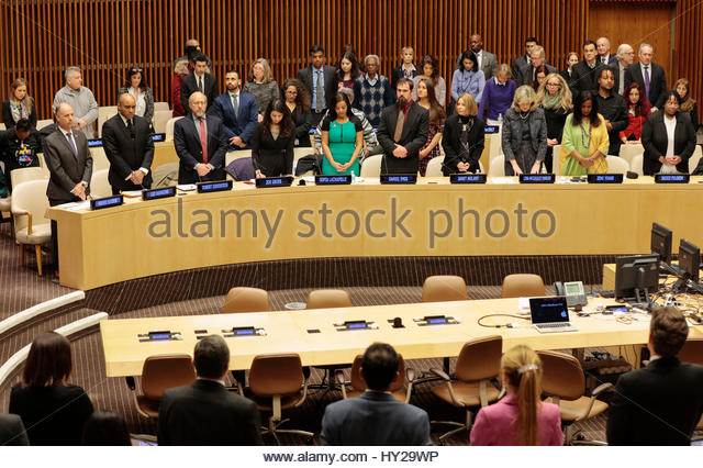 United Nations, New York, USA. 31st Mar, 2017. Sofia Lachapelle along with hundreds of guests participated on a - Stock Image