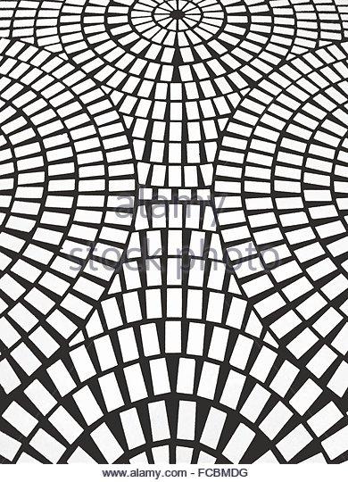 Detail Shot Of Designed Tiled Floor - Stock-Bilder