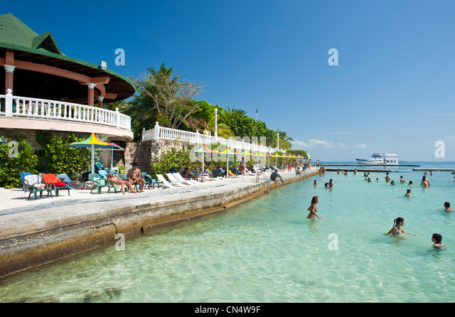 Colombia, Bolivar Department, Natural National Park of Islas del Rosario (Coral Islands of Rosario), Isla Grande, - Stock Image