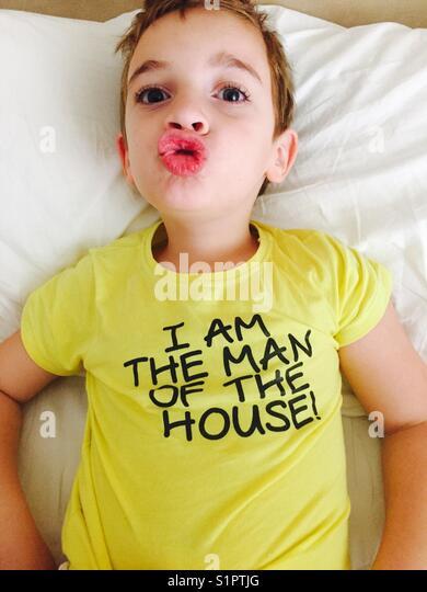 Little boy is having fun - Stock Image