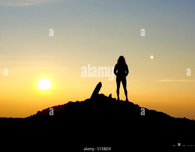 Sunset Pen Y Fan summit, Brecon Beacons Wales - Stock-Bilder