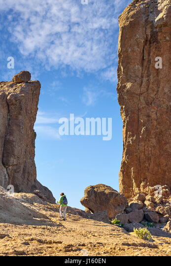 Mountain landscape, Roque Nublo, Gran Canaria, Canary Islands, Spain - Stock-Bilder