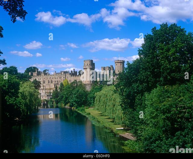 Warwick Castle castle Warwickshire UK - Stock Image