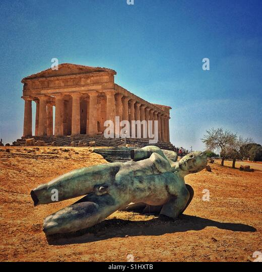 Temple of Concord. Agrigento. Sicily - Stock Image