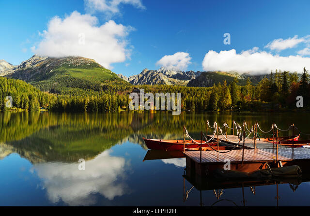Strbske Pleso, High Tatras (Vysoke Tatry), Slovakia, Europe - Stock Image