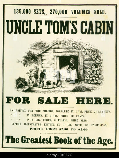 Delicieux 1850s USA Uncle Tomu0027s Cabin Poster   Stock Image
