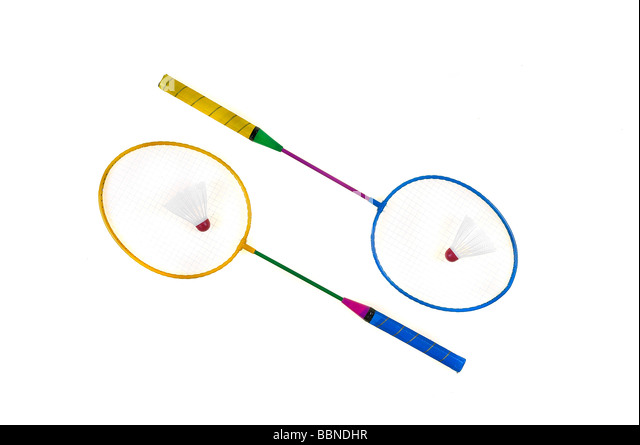 BADMINTON RACKET - Stock Image