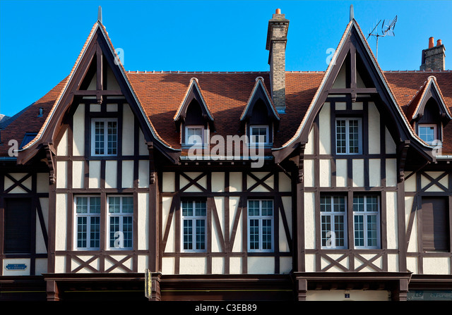 Europe, France, Marne (51), Dwelling, Place du Forum, Reims - Stock Image