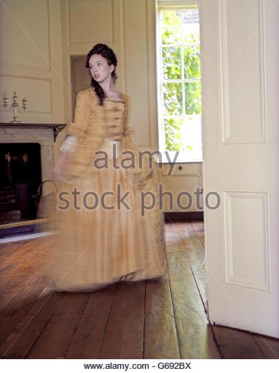 Girl in Georgian Dress - Stock-Bilder