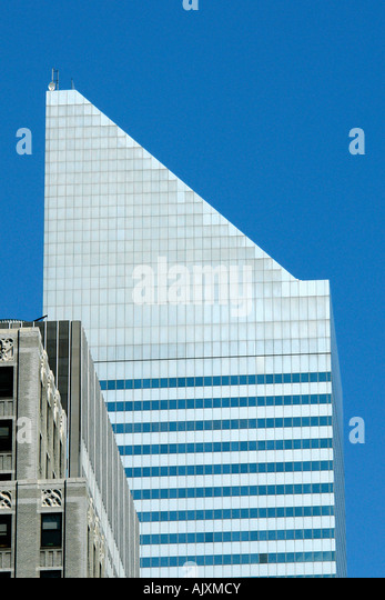 CitiBank Building in Manhattan New York City USA with Copy Space - Stock Image