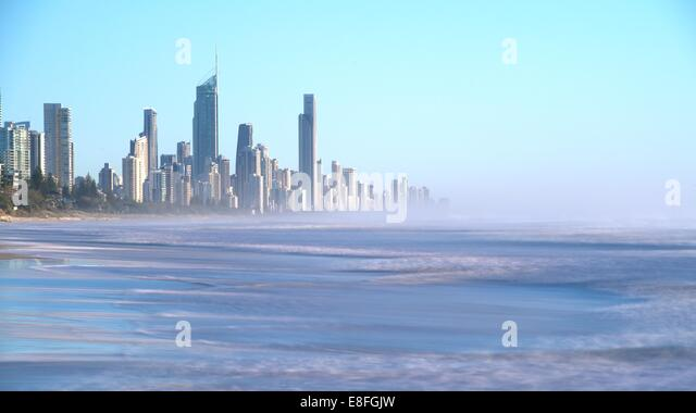 Australia, Gold Coast, Miami Park overlook Surfers Paradise - Stock Image