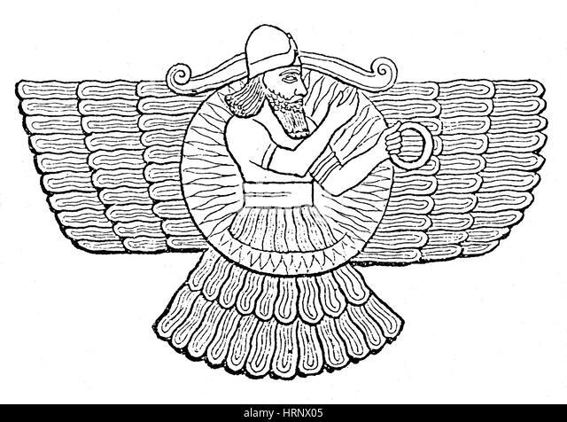 Ashur, Assyrian God - Stock Image