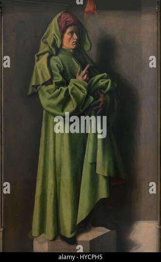 The Prophet Isaiah, by Barthelemy d'Eyck, 1442-1445, Boijmans van Beuningen Museum, Rotterdam, Netherlands, - Stock Image