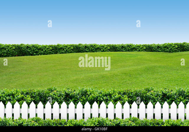fence firmament sky - Stock Image