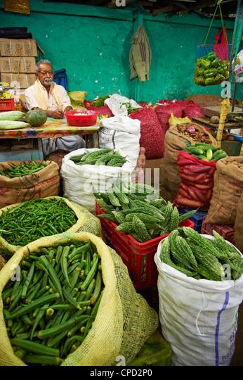 Market, Munnar, Kerala, India, Asia - Stock Image