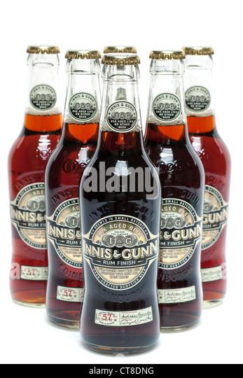 Bottles of Rum finish Innis and Gunn Scottish beer - Stock Image