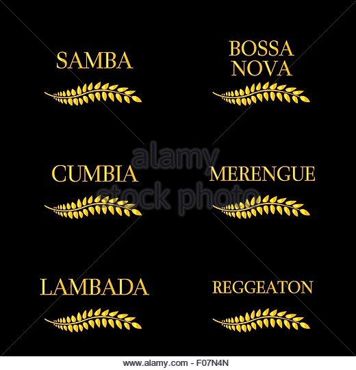 Latin Music Genres 8 - Stock Image