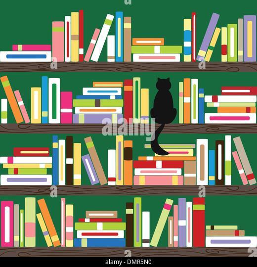 Bookshelf Wallpaper Stock Photos Bookshelf Wallpaper