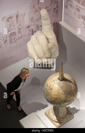 Exhibition Stand Assistant : Parian marble stock photos images